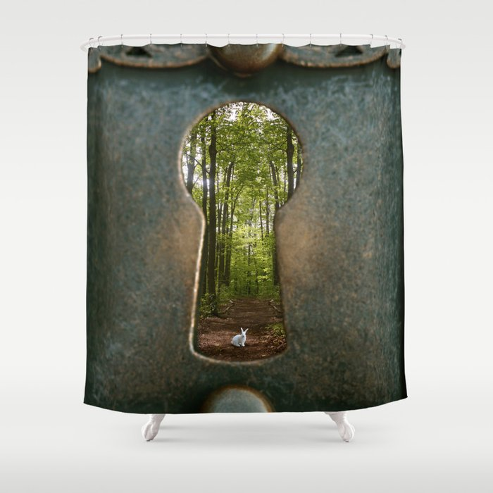 Alice In Wonderland Follow Me Shower Curtain