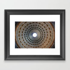 Pantheon Dome in Rome, Italy Framed Art Print