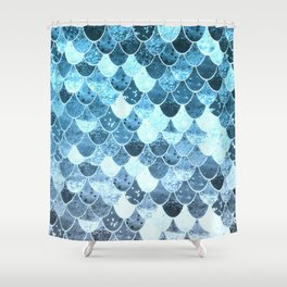 REALLY MERMAID SILVER BLUE Shower Curtain