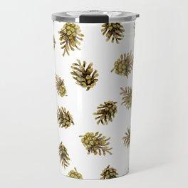 Pine cones pattern. Nature Travel Mug