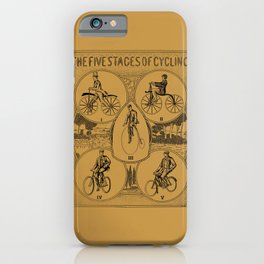 The five stages of cycling (bicycle history) iPhone Case