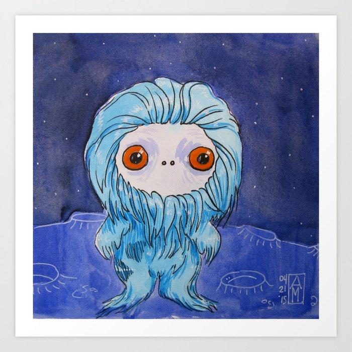 Moonkhin 3 (blue tranquil) Art Print