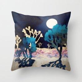 Desert Lake Moonlight Throw Pillow