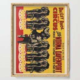Affiche dailey bros. 3 ring circus   little norma davenport. 1942  Serving Tray