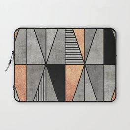 Concrete and Copper Triangles Laptop Sleeve