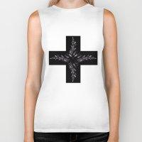 cross Biker Tanks featuring cross by Кaterina Кalinich