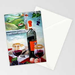 The Wine Painting Stationery Cards
