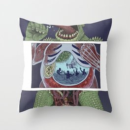 Troll Killer Throw Pillow