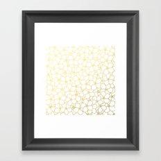 Forget Me Knot White Gold Framed Art Print