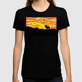 Flat wild life design T-shirt