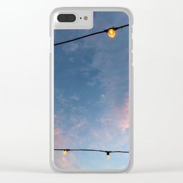 Crescent Moon in Lights Clear iPhone Case