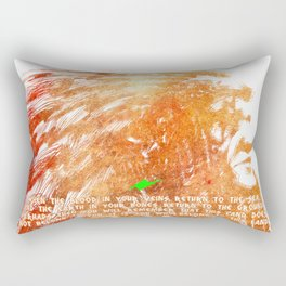 American Indian Chief Portrait watercolored Rectangular Pillow