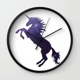 Unicorn and stars Wall Clock