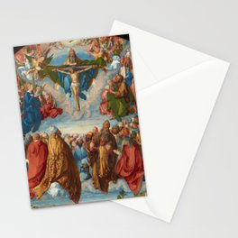 Albrecht Dürer - Adoration of the Trinity (Landauer Altar) (1511) Stationery Cards