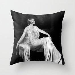 Muriel Finlay, Ziegfeld Follies Jazz Age black and white photograph Throw Pillow