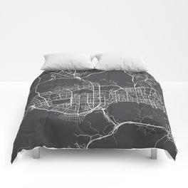 Shenzhen Map, China - Gray Comforters