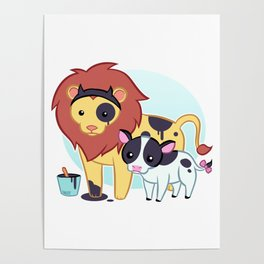 Lion Cow Poster