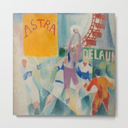 """Robert Delaunay """"Astra"""" (also known as Study for """"The Football Players of Cardiff"""") Metal Print"""