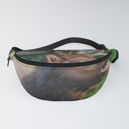 Elk Wildlife Colored Pencil Drawing Fanny Pack
