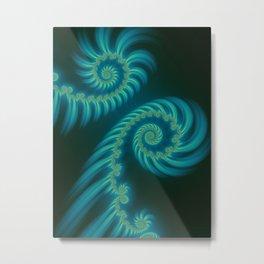 Entering the Vortex - Fractal Art Metal Print