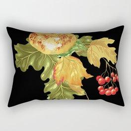 Autumn apple and ash berries Rectangular Pillow