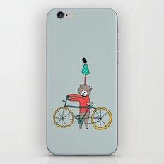 Biker Bear iPhone & iPod Skin