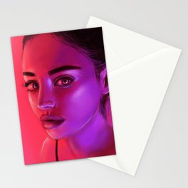 NEON PINK Stationery Cards