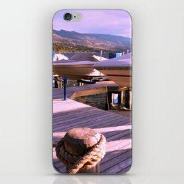 Boats on Dock iPhone Skin