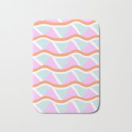 Abstract Geometric Shapes in Beachy Colors Bath Mat