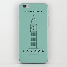 Minimal London City Poster iPhone & iPod Skin