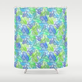 Placer precious stones, yellow , green , blue . Shower Curtain
