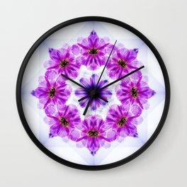 Wreath of Cosmos Mandala Wall Clock