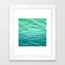 Teal Sea Framed Art Print