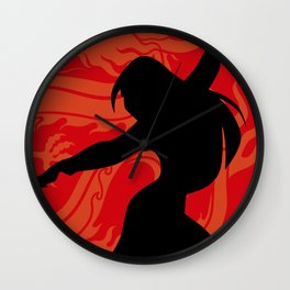 The Chinese Warrior Wall Clock