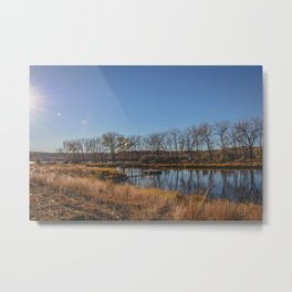 Downstream Campground, North Dakota 11 Metal Print