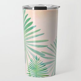 Under The Summer Sun - Palm Fronds Travel Mug