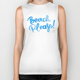 Beach Please Biker Tank