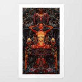 Triptych: Shakti - Red Goddess Art Print