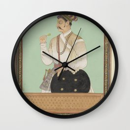Portrait of Raja Karan, who has been the visor of Aurangzeb, anonymous, c. 1686 Wall Clock