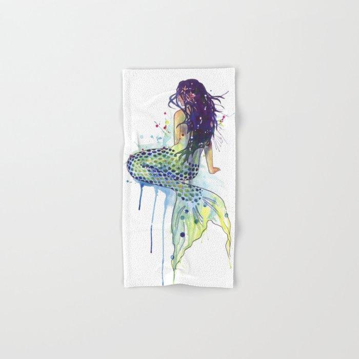 Mermaid Hand Bath Towel By Samnagel Society6