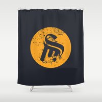 logo Shower Curtains featuring Logo by Sobhani
