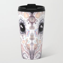 Sugar Skull Labyrinth Owl Travel Mug