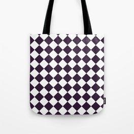 Diamonds - White and Dark Purple Tote Bag