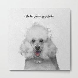 Cute Poodle Art Metal Print