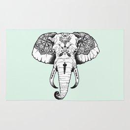 Elephant Tattooed Rug