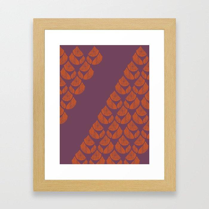 Orange Drops Framed Art Print
