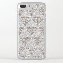Glitter Diamond Clear iPhone Case