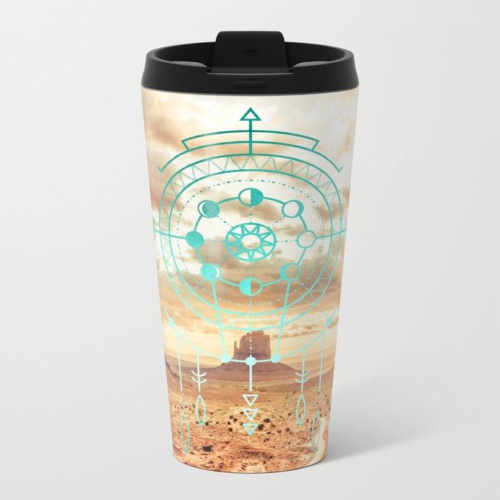 Mandala Desert Dawn Metal Travel Mug