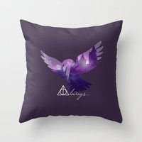 hedwig Throw Pillows featuring Hedwig by KeriiLynne
