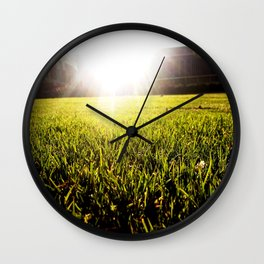 and the grass is always greener.. Wall Clock